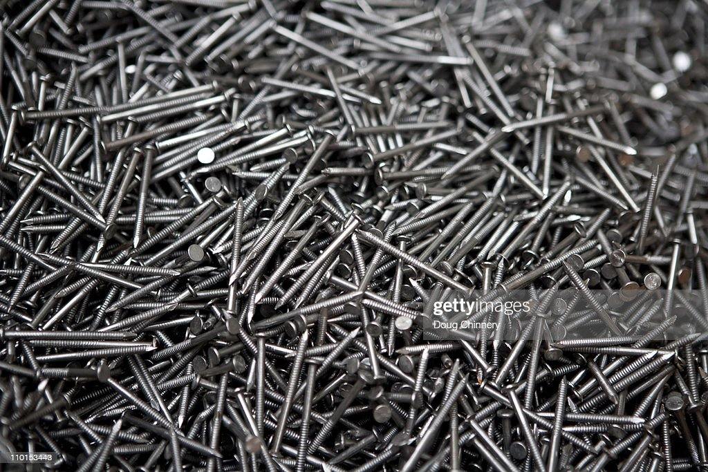 Steel Nails : Stock Photo