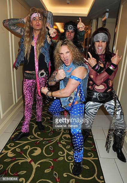 Steel Panther attend The Q Awards at the Grosvenor House on October 26 2009 in London England