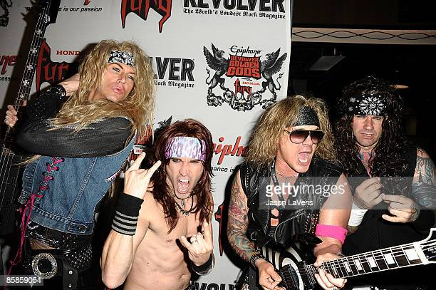 Steel Panther attends the 1st annual Epiphone Golden Gods Awards at Club Nokia on April 7 2009 in Los Angeles California