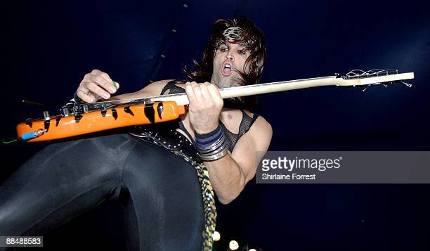 Steel Panther performs at day three of the Download Festival at Donington Park on June 14 2009 in Castle Donington England