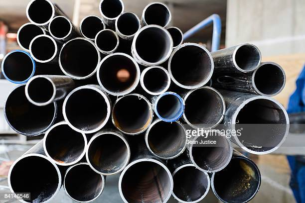 steel pipe. - steel stock pictures, royalty-free photos & images