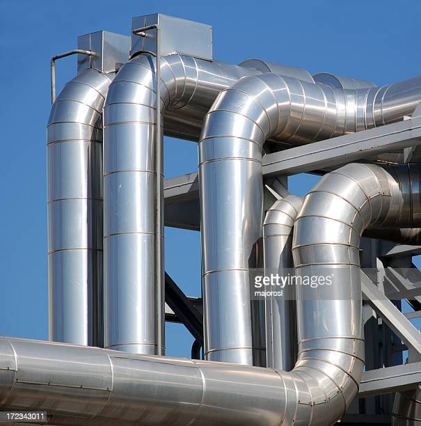 A steel piping industrial system