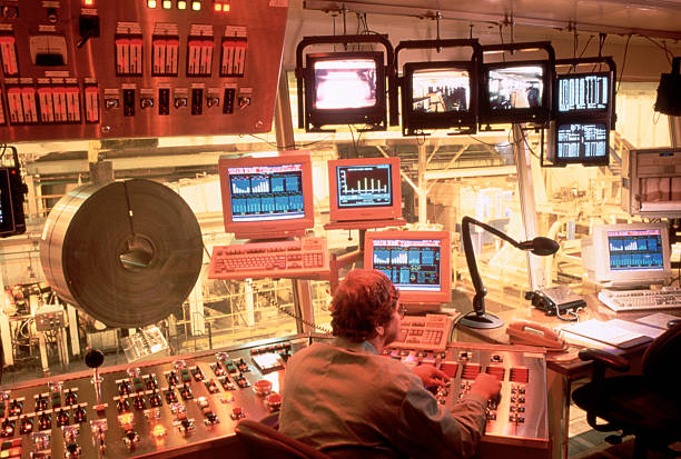 Steel plant control room