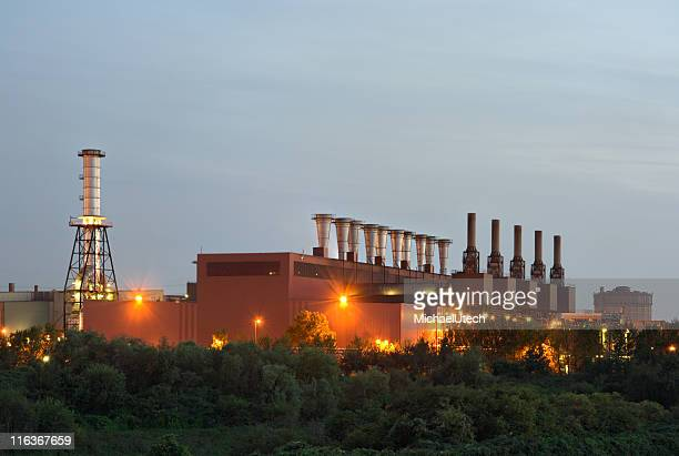 Steel Plant In The Evening