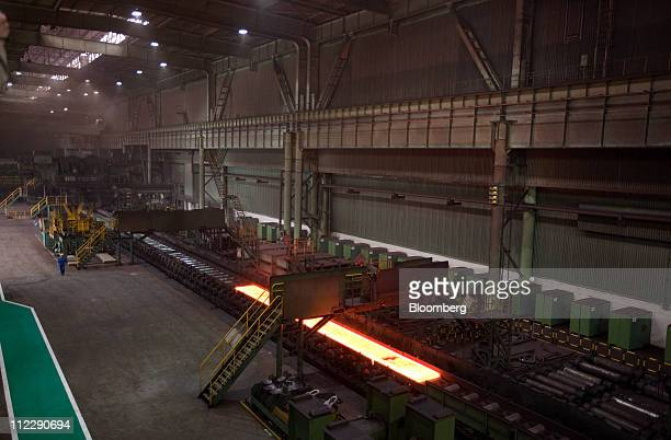 Steel production takes place at the Baosteel Group Corp facilities in Shanghai China on Friday April 15 2011 Baosteel Group is the supplier of half...