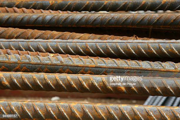 steel reinforcement bars - stephan de prouw stock pictures, royalty-free photos & images