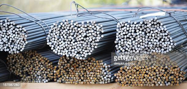 Steel rods for concrete constructions