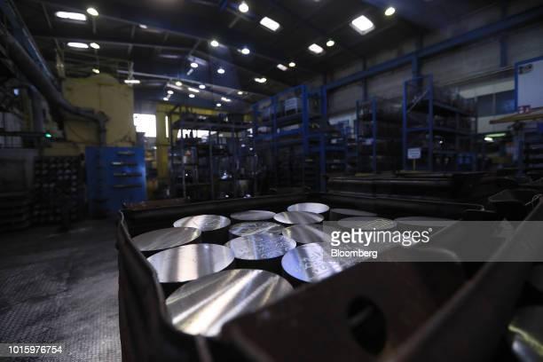 Steel rods sit ahead of forging inside the Schaeffler AG bearing factory in Schweinfurt Germany on Tuesday July 3 2018 Schaeffler the ballbearings...