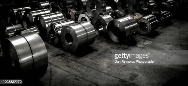 Steel Rolls in Steel Mill