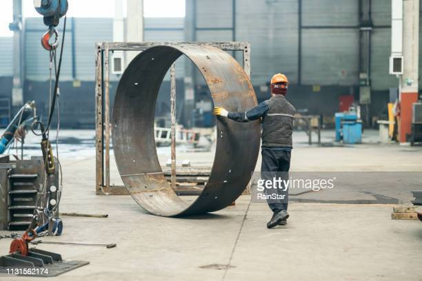 steel seamless rolled ring forging - sheet metal stock pictures, royalty-free photos & images