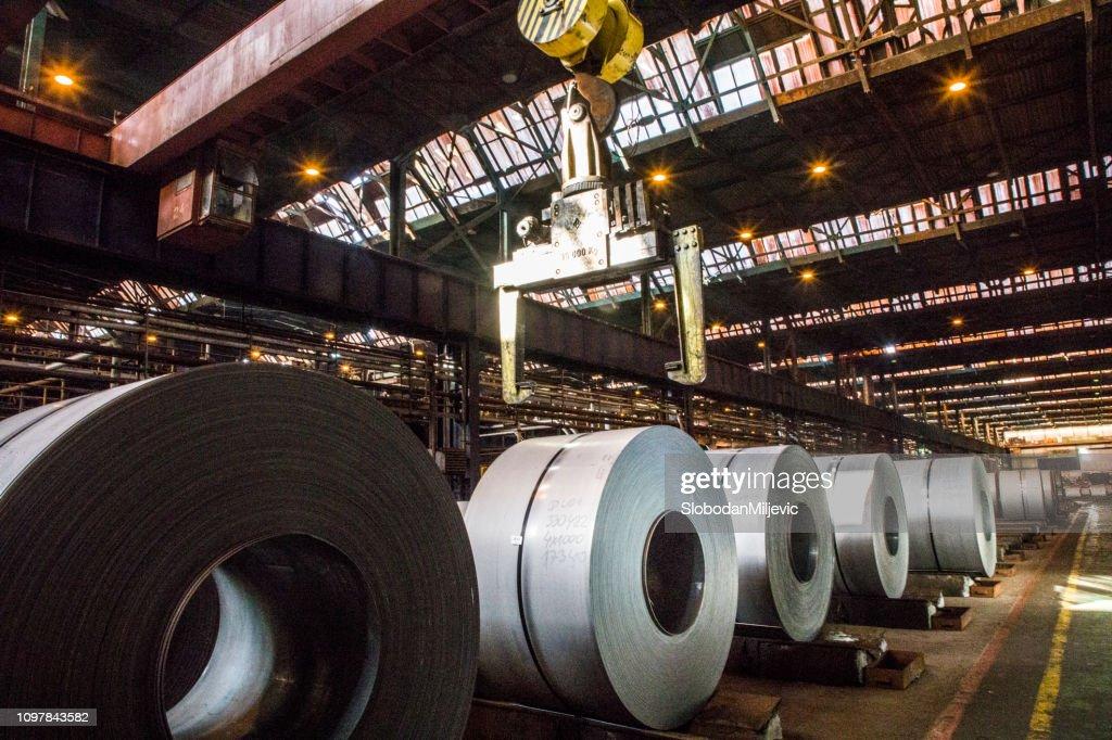 Steel sheet coils : Stock Photo