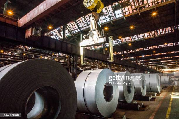 steel sheet coils - industry stock pictures, royalty-free photos & images