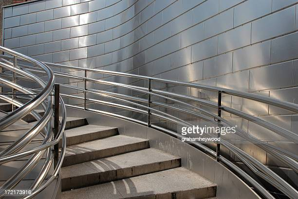 steel stairs - stainless steel stock pictures, royalty-free photos & images
