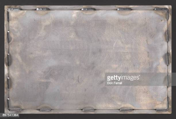 steel welded plate background - don farrall stock pictures, royalty-free photos & images