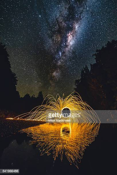 Steel Wool and the Milky Way over Clearwater Creek