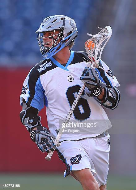 Steele Stanwick of Ohio Machine runs the ball against Boston Cannons in the second half at Gillette Stadium on July 11 2015 in Foxboro Massachusetts