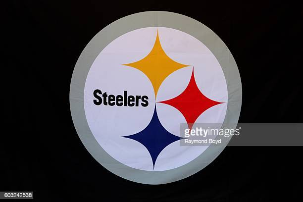 Steelers logo inside Heinz Field home of the Pittsburgh Steelers and Pittsburgh Panthers football teams in Pittsburgh Pennsylvania on August 26 2016
