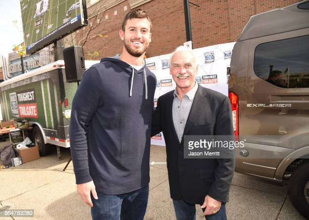 Steelers tight end Jesse James and 4 time Super Bowl winner, lengend, Rocky Bleier attend The Built Ford Tough toughest tailgate event on its fifth...