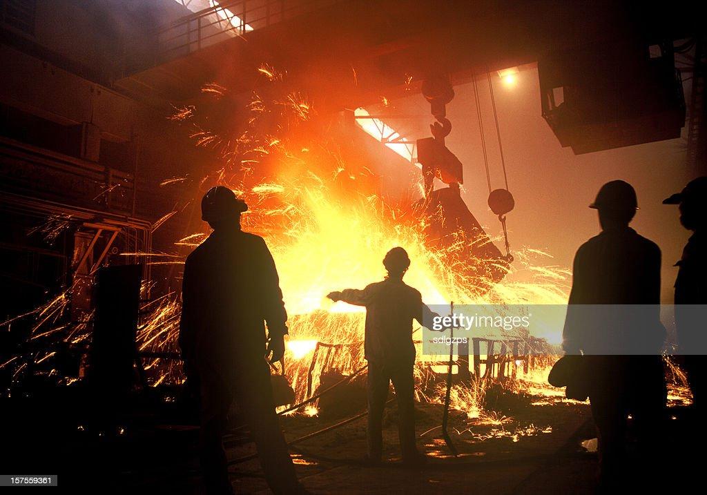 steel-making : Stock Photo