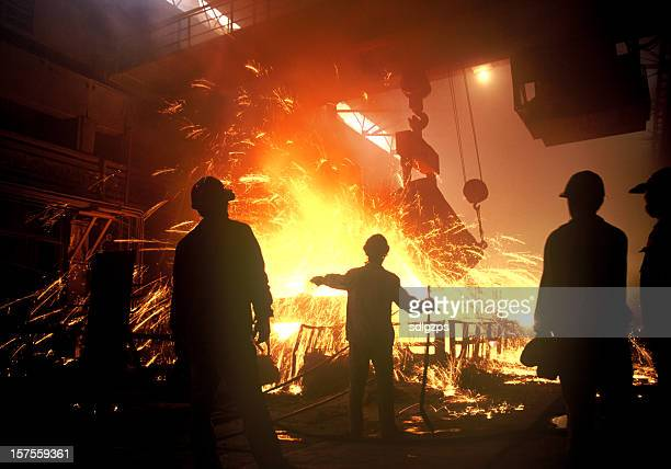 steel-making - steelmaking stock photos and pictures