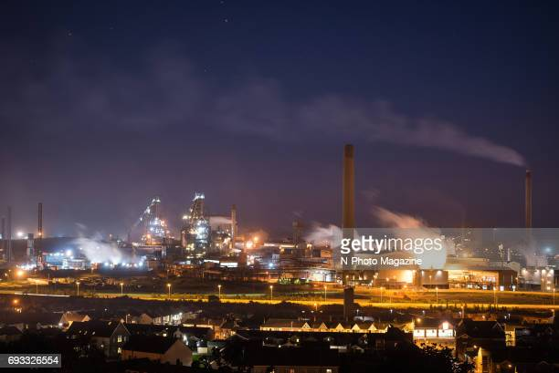 Steelworks in Port Talbot Wales on August 8 2016