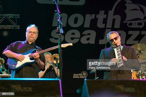 Steely Dan perform live on stage in The Hague, Holland as part of The North Sea Jazz Festival on July 14 2007 L-R Walter Becker, Donald Fagen