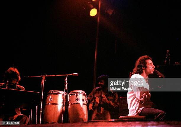 Steely Dan perform on stage Rainbow Theatre London 21st May 1974 LR Michael McDonald Donald Fagen