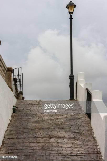 Steep footpath in Vejer de la Frontera, Spain