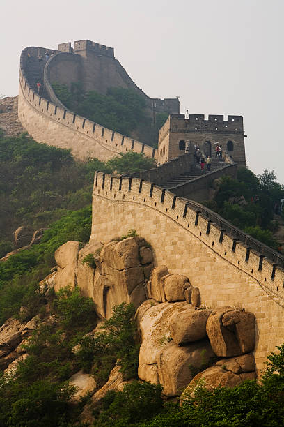 Steep incline of Ming Dynasty Great Wall.   Photos.com