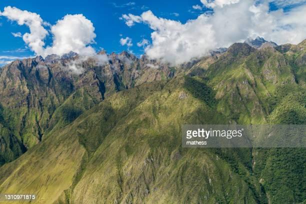 steep mountains near machu picchu peru