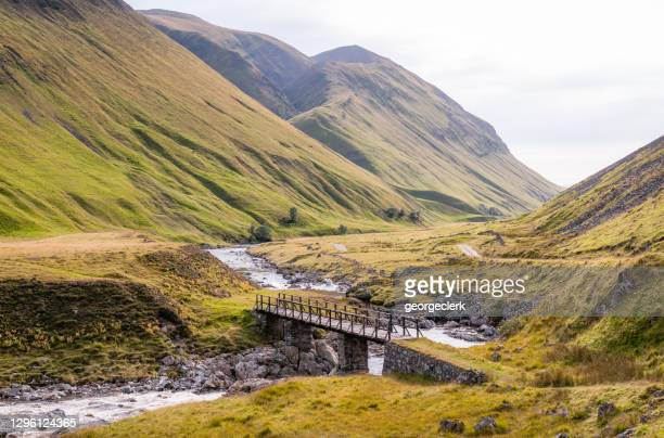 steep mountainsides in glen tilt, in the scottish highlands - hill stock pictures, royalty-free photos & images