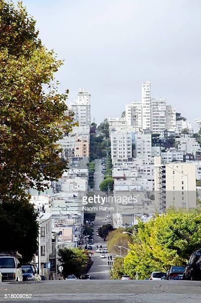 Steep road in San Francisco, California, USA