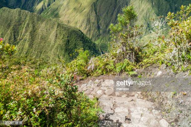 steep trail leading to machu picchu