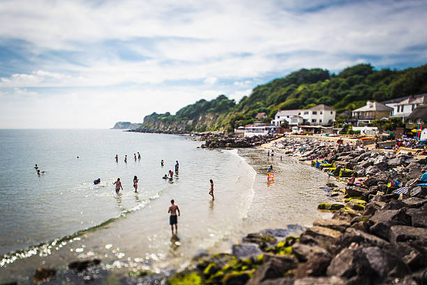 Steephill Cove Beach, Isle of Wight South of UK