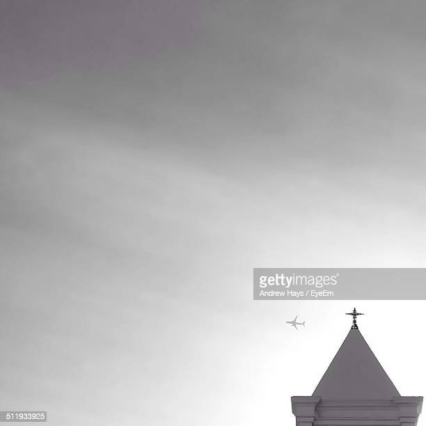 Steeple with airplane
