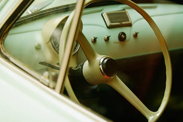 Steering wheel of a car, Via Padre Reginaldo Giuliani, Sorrento, Sorrentine Peninsula, Naples Province, Campania, Italy