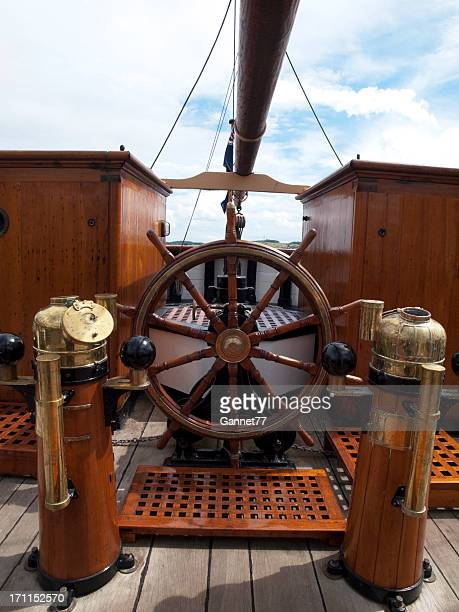 Steering Wheel on the RRS Discovery