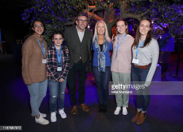 Steeve Coogan and Clea Newman with SeriousFun campers at SeriousFun Children's Network Campfire Bash on November 14 2019 in London England