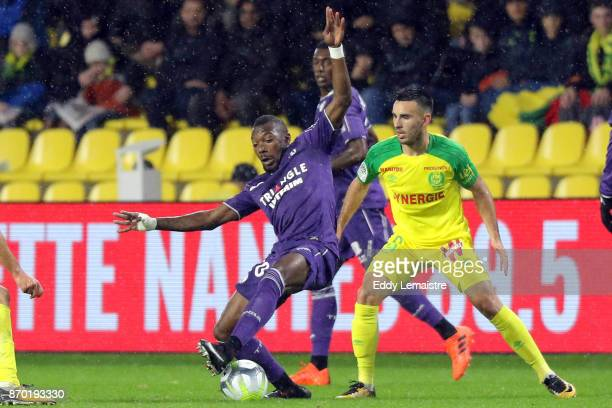 Steeve Yago of Toulouse during the Ligue 1 match between Nantes and Toulouse at Stade de la Beaujoire on November 4 2017 in Nantes