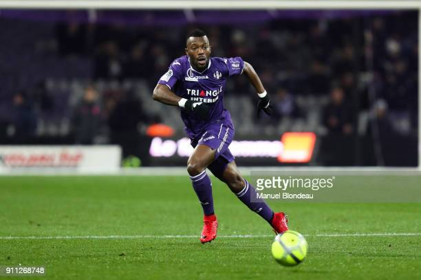 Steeve Yago of Toulouse during the Ligue 1 match between Toulouse and Troyes at Stadium Municipal on January 27 2018 in Toulouse