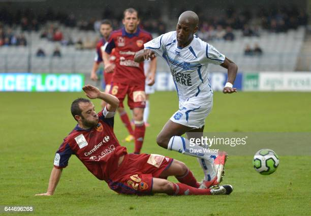 Steeven LANGIL / Louis POGGI Auxerre / GFC Ajaccio 13emejournee de Ligue 2 Photo Dave Winter / Icon Sport