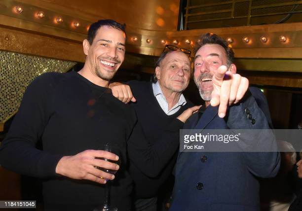 Steevy Boulay Michel Ansault and Alain Gossuin attend Jean Marie Bigard « Ogre » Perfume Launch Party at Manko Club on October 28 2019 in Paris France