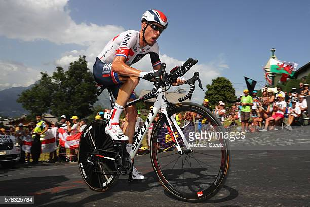 Stef Clement of the Netherlands and IAM Cycling during stage eighteen of the 2016 Le Tour de France, from Sallanches to Megeve on July 21, 2016 in...