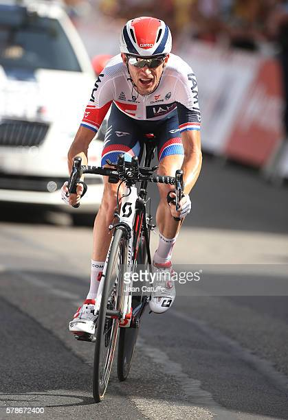 Stef Clement of The Netherlands and IAM Cycling in action during stage 18 of the Tour de France 2016, a time trial of 17km between Sallanches and...