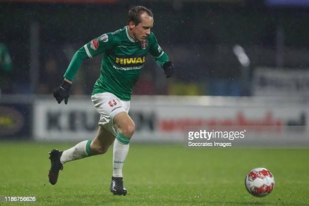 Stef Gronsveld of FC Dordrecht during the Dutch Keuken Kampioen Divisie match between FC Dordrecht v SC Cambuur at the Riwal Hoogwerkers Stadium on...
