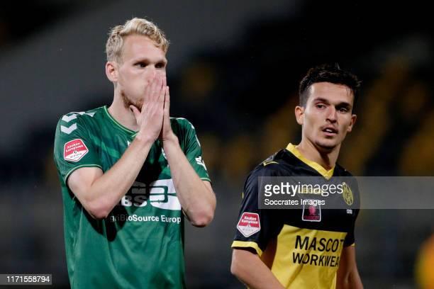 Stef Nijland of De Graafschap during the Dutch Keuken Kampioen Divisie match between Roda JC v De Graafschap at the Parkstad Limburg Stadium on...