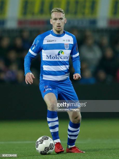 Stef Nijland of PEC Zwolle during the Dutch Eredivisie match between PEC Zwolle v NAC Breda at the MAC3PARK Stadium on January 20 2018 in Zwolle...