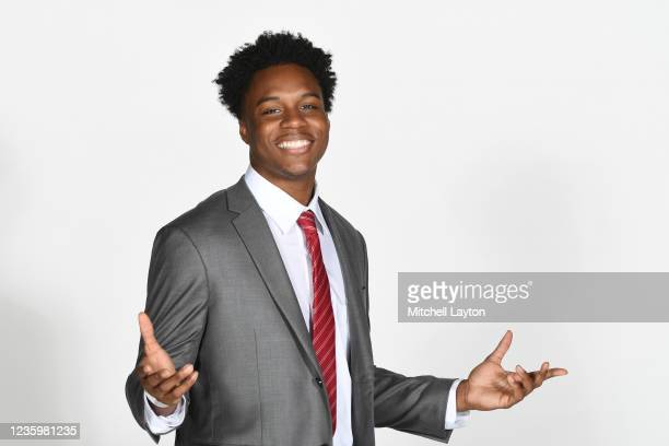Stef Smith of the St. Johns Red Storm poses for a photo during the Big East Media Day at Madison Square Garden on October 19, 2021 in New York City.