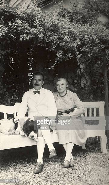 Stefan and Friderike Zweig in the Garden of their House at the Kapuzinerberg Salzburg Photograph around 1935