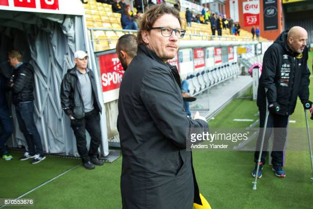 Stefan Andreasson sporting manager of IF Elfsborg looks on prio to the Allsvenskan match between IF Elfsborg and IFK Norrkoping at Boras Arena on...
